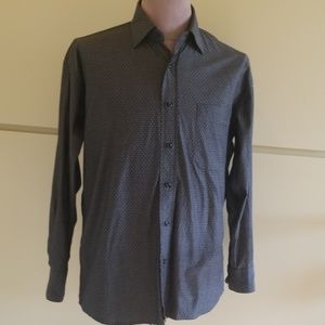 Perry Ellis, Grey Dress Shirt, Medium